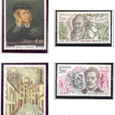 Sellos: MONACO 1983 - PERSONAJES - RAPHAEL PUCCINI BRAHMS Y UTRILLO - YVERT 1389/92. Lote 22979103