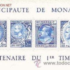 Sellos: MONACO HB 33** - AÑO 1985 - CENTENARIO DEL SELLO. Lote 26356616