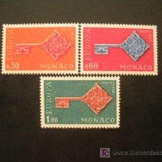 Sellos: MONACO 1968 IVERT 749/51 *** EUROPA. Lote 17830748