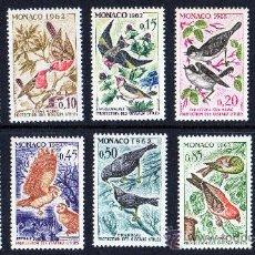 Sellos: MÓNACO AÑO 1962 YV 581/90* CONVENCIÓN INTERNACIONAL PARA PROTECCIÓN DE LAS AVES - FAUNA - NATURALEZA. Lote 26389793
