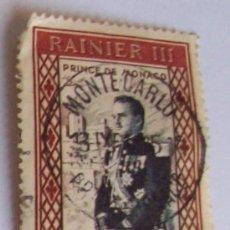 Sellos: PRINCIPE DE MONACO RAINIER III - POSTE AERIENNE - 100 FRANCOS. Lote 25250197