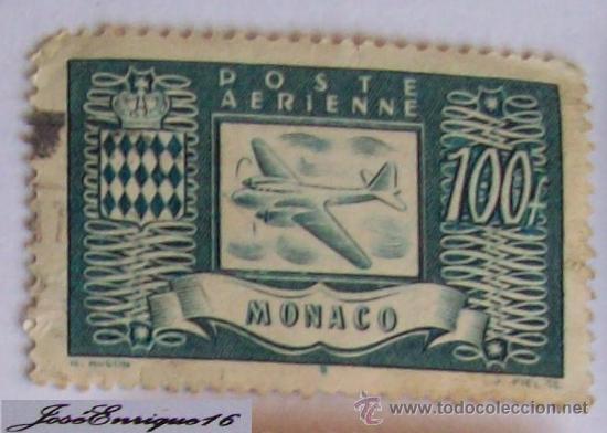 POSTE AERIENNE - MONACO - 100 FRACOS (Sellos - Extranjero - Europa - Mónaco)