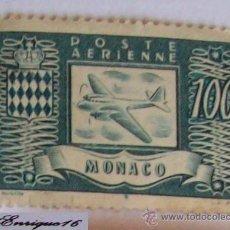 Sellos: POSTE AERIENNE - MONACO - 100 FRACOS. Lote 16070862