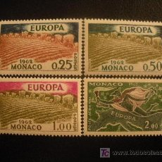 Sellos: MONACO 1962 IVERT 571/3 Y AEREO 79 *** EUROPA. Lote 17830738