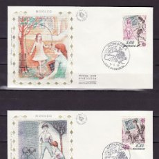 Sellos: MONACO 1686/7 PRIMER DIA, TEMA EUROPA, JUEGOS INFANTILES, . Lote 25915055