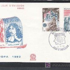 Sellos: MONACO 1322/3 PRIMER DIA, TEMA EUROPA, HECHOS HISTORICOS, . Lote 19647436
