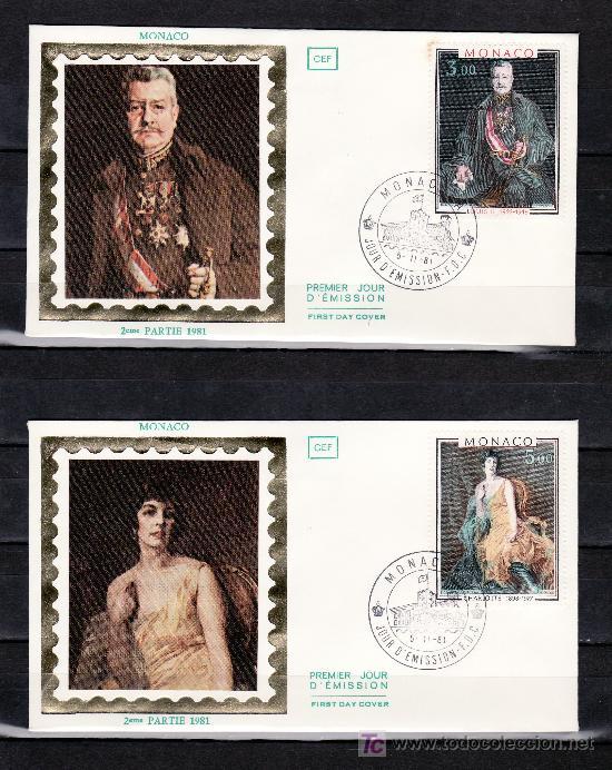 MONACO 1286/7 PRIMER DIA, PINTURA, PRINCIPE LUIS II Y PRINCESA CARLOTA (Sellos - Extranjero - Europa - Mónaco)