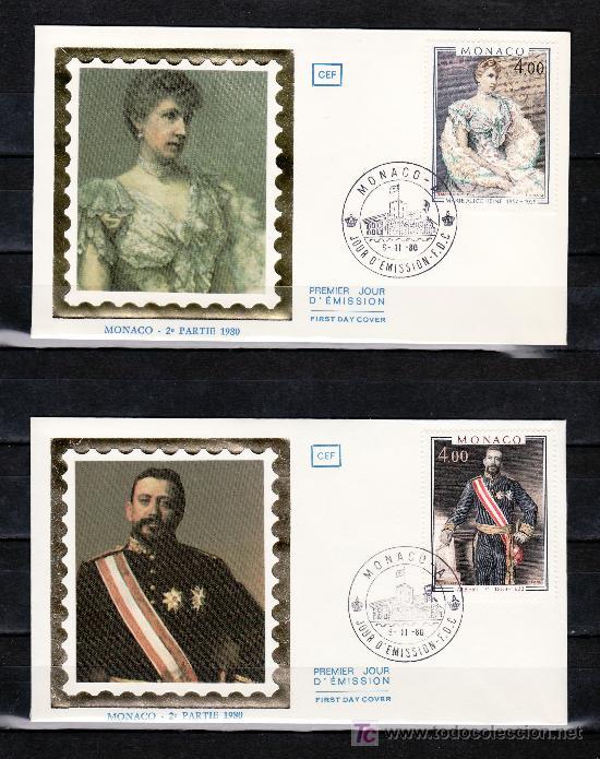 MONACO 1245/6 PRIMER DIA, PINTURA, PRINCIPE ALBERTO I Y PRINCESA MARIA ALICE HEINE (Sellos - Extranjero - Europa - Mónaco)