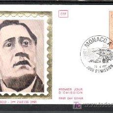 Sellos: MONACO 1228 PRIMER DIA, CENTENARIO NACIMIENTO DE GUILLAUME APOLLINAIRE. Lote 16762627