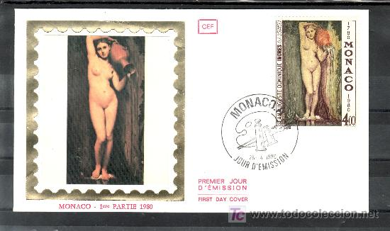 MONACO 1226 PRIMER DIA, PINTURA, II CENTENARIO DEL NACIMIENTO DE J.A.D. INGRES (Sellos - Extranjero - Europa - Mónaco)
