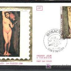 Sellos: MONACO 1226 PRIMER DIA, PINTURA, II CENTENARIO DEL NACIMIENTO DE J.A.D. INGRES . Lote 16762739