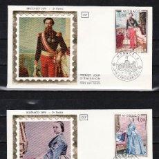 Sellos: MONACO 1196/7 PRIMER DIA, PINTURA, PRINCIPE CARLOS III Y PRINCESA ANTONIETA DE MERODE. Lote 76758282