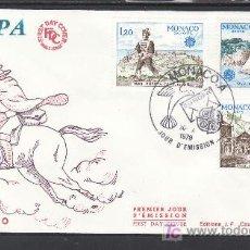 Sellos: MONACO 1186/8 PRIMER DIA, BARCO, FF.CC., TEMA EUROPA, HISTORIA DEL CORREO. Lote 27076890