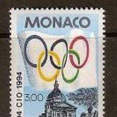 Sellos: SELLO DE MONACO AÑO 1994 YVERT 1937 TEMA OLIMPIADAS . Lote 17690518
