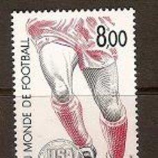 Sellos: SELLO DE MONACO YVERT 1940 AÑO 1994 TEMA FUTBOL. Lote 23473863