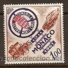 Sellos: SELLO DE MONACO AÑO 1961 YVERT 555 TEMA COCHES . Lote 17691920