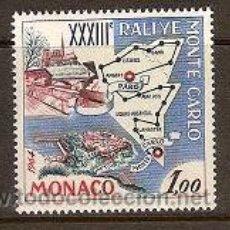 Sellos: SELLO DE MONACO AÑO 1963 YVERT 616 TEMA COCHES RALLY MONTECARLO. Lote 17691934