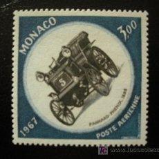 Sellos: MONACO 1967 AEREO IVERT 91 *** 25 GRAN PRIX DEL AUTOMOVIL DE MONACO - COCHES. Lote 17770295