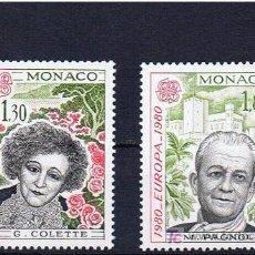 Sellos: MONACO 1980 COLLETTE I PAGNOL MARQUEN UN GOL COM UNA COL, NUEVOS, IMPECABLES.... Lote 18090823