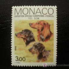 Timbres: MONACO 1988 IVERT 1624 *** EXPOSICIÓN CANINA INTERNACIONAL DE MONTECARLO - PERROS - FAUNA. Lote 18196105