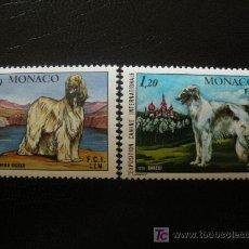 Sellos: MONACO 1978 IVERT 1163/4 *** EXPOSICIÓN CANINA INTERNACIONAL MONTECARLO - PERROS - FAUNA. Lote 23322515