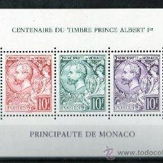 Sellos: MÓNACO AÑO 1991 YV HB 53*** CENTº DEL SELLO - PPE. ALBERTO I - FILATÉLIA - SELLO SOBRE SELLO. Lote 27371520
