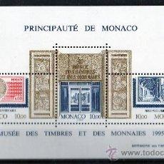 Sellos: MÓNACO AÑO 1995 YV HB 69*** MUSEO DEL SELLO Y LA MONEDA - FILATÉLIA - NUMISMÁTICA. Lote 27401298