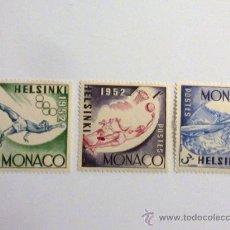 Sellos: SELLOS DE MONACO HELSINKI 1952. Lote 27097069