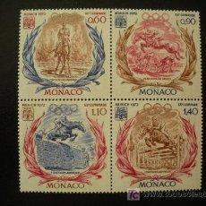 Sellos: MONACO 1972 IVERT 890/3 *** JUEGOS OLIMPICOS DE MUNICH - EQUITACIÓN - DEPORTES - EQUITACIÓN. Lote 22155207