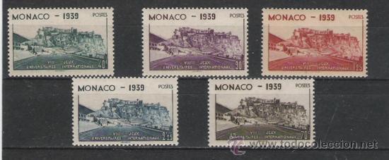 MONACO LA SERIE NUEVA PERFECTA Nº 195/199 (Sellos - Extranjero - Europa - Mónaco)