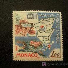 Timbres: MONACO 1963 IVERT 616 *** 33 RALLY AUTOMOVILISTICO DE MONTECARLO - TRAZADO PARIS-MONTECARLO . Lote 21140940