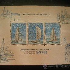 Sellos: MONACO 1985 HB IVERT 32 *** REGATA TRANSATLANTICA DE VELA MONACO-NUEVA YORK - BARCOS. Lote 21265453