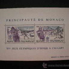 Sellos: MONACO 1988 HB IVERT 40 *** JUEGOS OLIMPICOS DE INVIERNO DE CALGARY - DEPORTES. Lote 21362180
