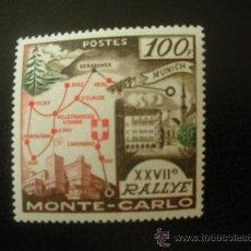 Sellos: MONACO 1958 IVERT 491 * 27º RALLYE AUTOMOVILISTICO DE MONTE-CARLO - DEPORTES. Lote 22879723