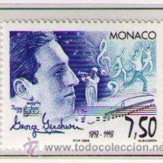 Timbres: MONACO 1998 - CENTENARIO DE GEORGE GERSHWIN - MUSICA - YVERT 2169. Lote 24461088