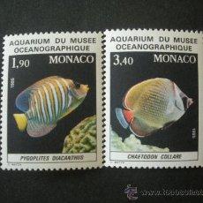 Sellos: MONACO 1986 IVERT 1541/2 *** FAUNA - PECES DEL MUSEO OCEANOGRAFICO DE MONACO. Lote 26987441