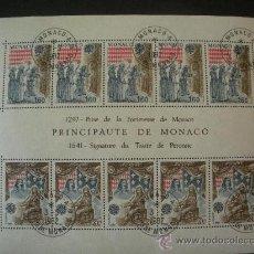 Sellos: MONACO 1982 HB IVERT 22 EUROPA - HECHOS HISTÓRICOS. Lote 27798045
