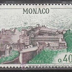 Sellos: MONACO (AÑO 1965), VISTA AEREA DEL PALACIO DE LOS PRINCIPES, NUEVO. Lote 27831636
