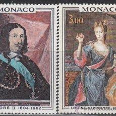 Sellos: MONACO (735) PRINCIPES DE MONACO: HONORÉ II Y LUISA HIPPOLYTTE, NUEVO. Lote 27858543