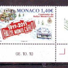 Timbres: MONACO***.AÑO 2011.COCHES.CENTENARIO RALLY MONTE CARLO.. Lote 28007016
