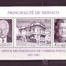 Sellos: MONACO HB 39*** - AÑO 1987 - 50º ANIVERSARIO DE LA OFICINA DE EMISION DE SELLOS DE CORREOS. Lote 28075592