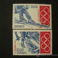 Sellos: MONACO 1994 IVERT 1924/5 *** JUEGOS OLIMPICOS DE INVIERNO EN LILLEHAMER - DEPORTES. Lote 31800084