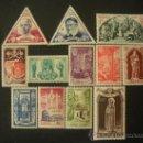Sellos: MONACO 1951 IVERT 353/64 *** AÑO SANTO - RELIGIÓN - SAN VICENTE PAUL. Lote 32256701