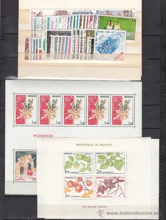 MONACO 1264/305, HB19/20, PO70/3 SIN CHARNELA, AÑO 1981 VALOR CAT 150,50 EUROS + (Sellos - Extranjero - Europa - Mónaco)