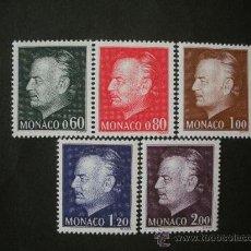 Sellos: MONACO 1974 IVERT 992/6 *** PRINCIPE RAINIERO III - MONARQUIA - PERSONAJES. Lote 34002779