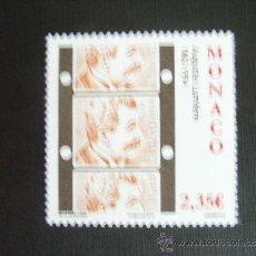 Sellos: MONACO AÑO 2012.CINE. 150 ANIVERSARIO NACIMIENTO AUGUSTE LUMIERE. Lote 123872467
