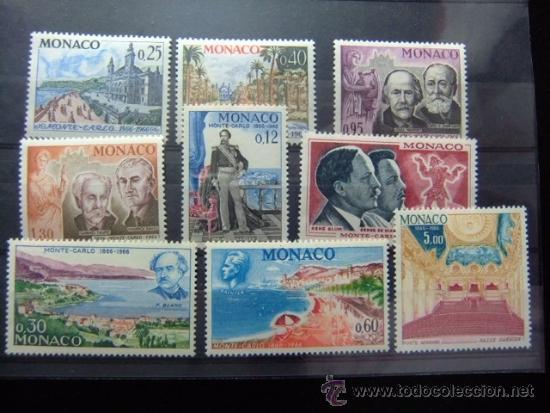 MONACO YVERT 690 -697 ** PA 86 ** CENTENARIO DE MONTECARLO (VISTAS ) (Sellos - Extranjero - Europa - Mónaco)