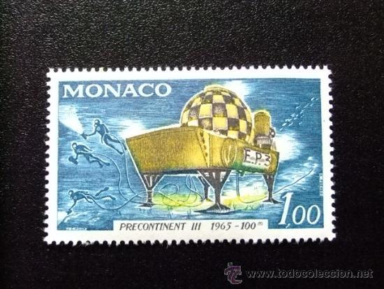 MONACO YVERT 705 ** MNH OPERACION SUBMARINA (Sellos - Extranjero - Europa - Mónaco)