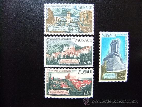MONACO YVERT 851 - 854 ** MNH MONUMENTOS HISTORICOS (Sellos - Extranjero - Europa - Mónaco)