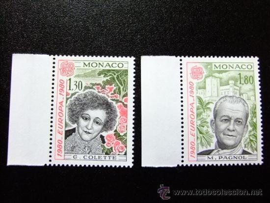MONACO AÑO 1980 YVERT 1224 - 1225 ** MNH TEMA EUROPA (PERSONAJES CELEBRES) (Sellos - Extranjero - Europa - Mónaco)